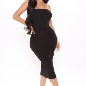Fashion Nova stretch bandeau strapless tight dress